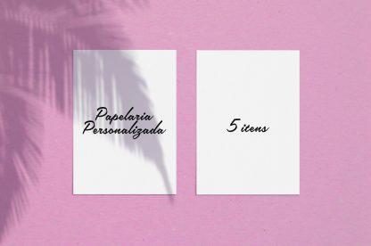Papelaria Gold (5 itens personalizados)